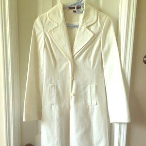 Express white coat XS